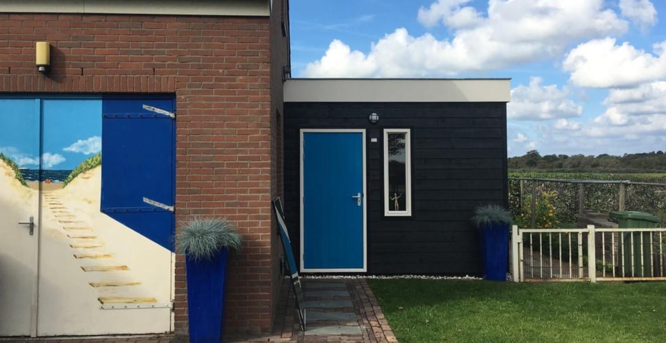 Atelier de blauwe deur