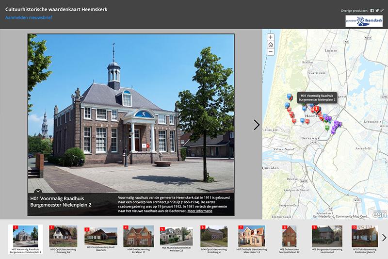 Website cultuurhistorie Heemskerk