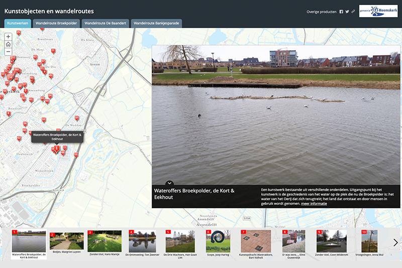 Website kunstobjecten Heemskerk
